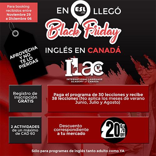 Black Friday – Estudia inglés en ILAC Canadá